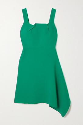 Roland Mouret Caracalla Asymmetric Draped Crepe Mini Dress - Green