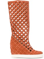 Casadei Lady Web wedge boots