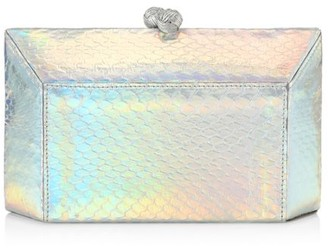 Nancy Gonzalez Gramercy Snakeskin Box Clutch