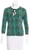 Blumarine Patterned V-Neck Sweater