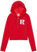 PINK Rutgers University Varsity Cropped Half-Zip Hoodie