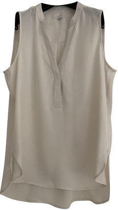 Intermix White Silk Top for Women