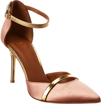 Malone Souliers Booboo 85 Satin & Leather Pump