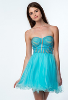 Terani Couture 151P0018A Embellished Sweetheart A-line Dress