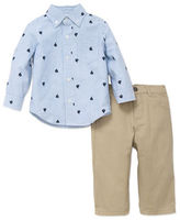Little Me Baby Boys Two-Piece Sailboat Print Shirt and Pants Set