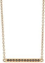 Black Diamond Roberto Marroni Women's Short Line Necklace-GOLD, BLACK, NO COLOR