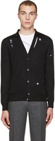 Alexander McQueen Black Destroyed Cardigan