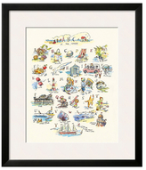 ABC of the Seaside by Claire Fletcher (Framed)