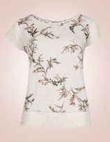 Marks and Spencer Short Sleeve Printed Pyjama Top