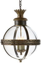Visual Comfort & Co. Crown Top Banded Globe, Bronze
