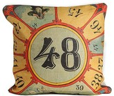 The Well Appointed House Carnival Numbered Game Target Pillow
