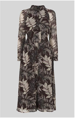 Whistles Claris Floral Print Dress