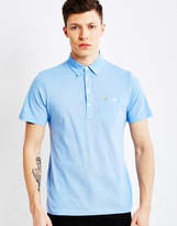 Farah Short Sleeve Jersey Polo Shirt Blue