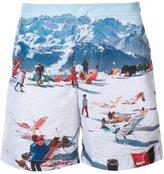 Orlebar Brown mountain print bermuda shorts