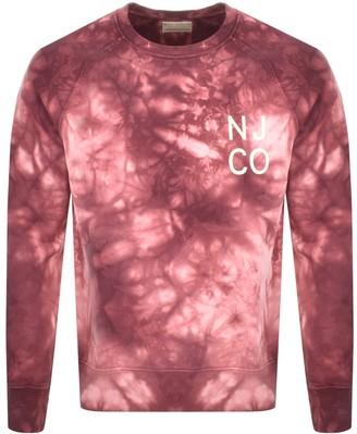Nudie Jeans Melvin Tie Dye Sweatshirt Pink