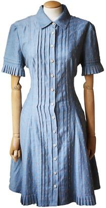Yigal Azrouel Blue Cotton Dress for Women