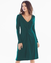 Soma Intimates Charlotte Long Sleeve Knit Dress Hunter