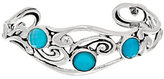 Mother of Pearl Carolyn Pollack Sterling Teal Mother-of-Pearl Doublet Cuff