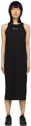 Champion Reverse Weave Black Central Script Logo Tank Dress