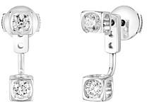 Dinh Van 18K White Gold Le Cube Diamant Diamond Ear Jackets