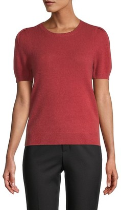 Saks Fifth Avenue Puff-Sleeve Cashmere Knit Top