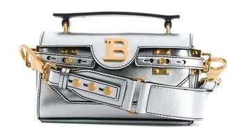 Balmain Metallic Logo Plaque Tote Bag