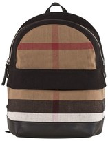 Burberry Tiller Black And Classic Check Backpack