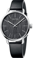 Calvin Klein K7B211C1 Even stainless steel and leather watch