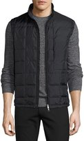 Theory Witt Quilted Vest, Black