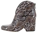 Diane von Furstenberg Printed Leather Booties