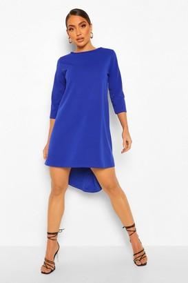 boohoo Crop Sleeve Dip Hem Shift Dress
