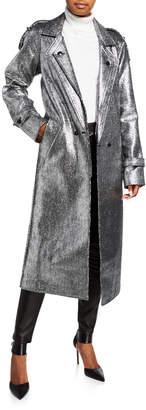 RtA Andi Metallic Tweed Long Coat