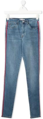 Levi's TEEN striped-side skinny jeans