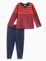 Splendid Little Boy Long Sleeve Stripe Top with Pant Set