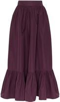 Valentino gathered maxi skirt