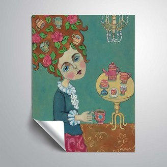 ArtWall Tea For Marie; Antoinette that is, Removable Wall Art Mural by Holly Wojahn