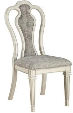 One Allium Way Hampton Queen Anne Back Side Chair in Gray