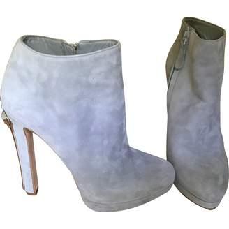 Alexander McQueen Grey Suede Ankle boots