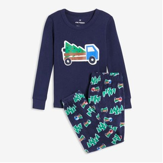 Joe Fresh Toddler Boys' 2 Piece Jogger Sleep Set, Dark Navy (Size 2)