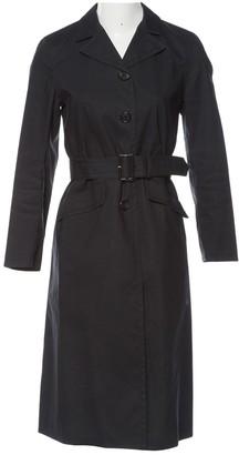 Prada Anthracite Cotton Trench Coat for Women