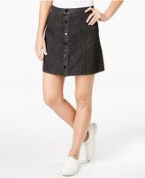 Calvin Klein Jeans Coated Denim A-Line Skirt