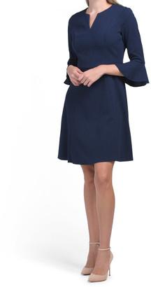 Ruffle Elbow Sleeve Dress