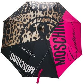 Moschino Multi-Panel Design Umbrella