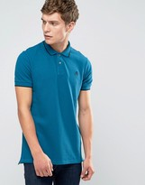 Paul Smith PS by Polo Shirt With PS Logo In Slim Fit Blue