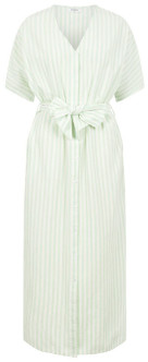 Pieces Striped Shirt Dress - XS . | cotton | green | white stripes - Green/Green
