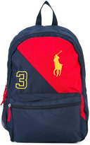 Ralph Lauren logo embroidery bicolour backpack