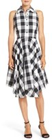 Julia Jordan Woven Gingham Shirtdress