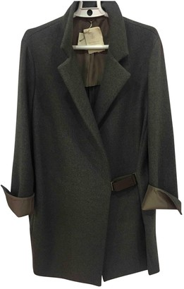 Brunello Cucinelli Brown Wool Coat for Women