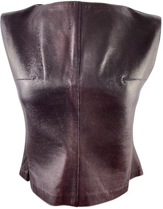 Chanel Purple Leather Tops
