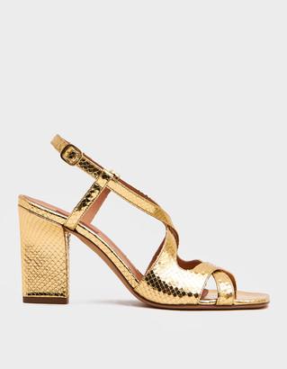 Rachel Comey Women's Deuce Heel in Gold, Size 38   Calfskin Leather